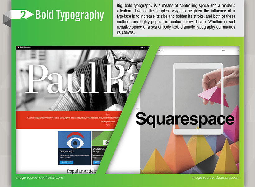 Webdesign Trends 2017 - Fette Schriftarten
