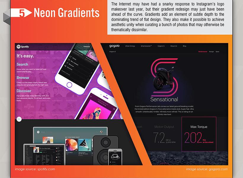 Webdesign Trends 2017 - Neon Farbverläufe