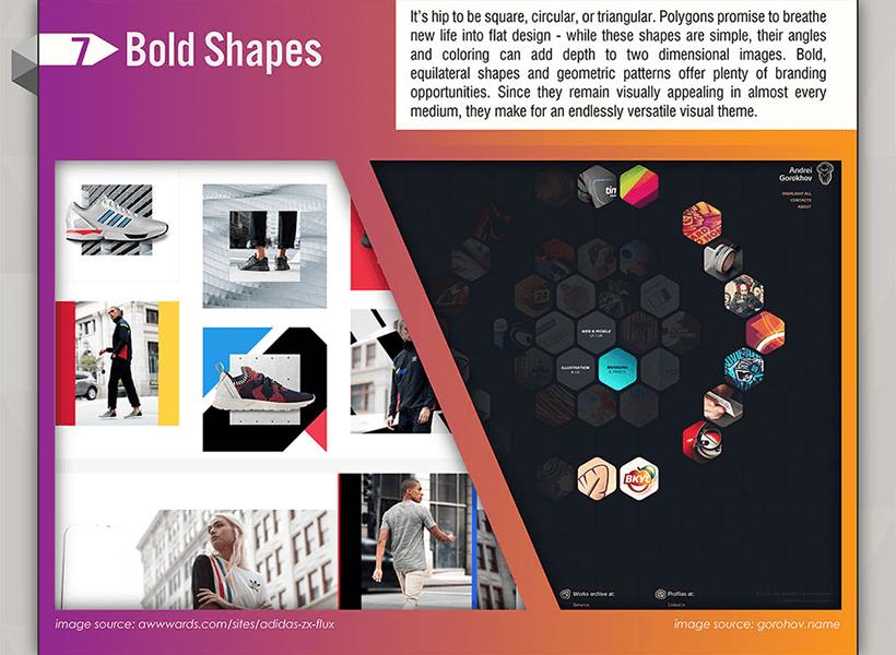 Webdesign Trends 2017 - Plakative und starke geometrische Formen