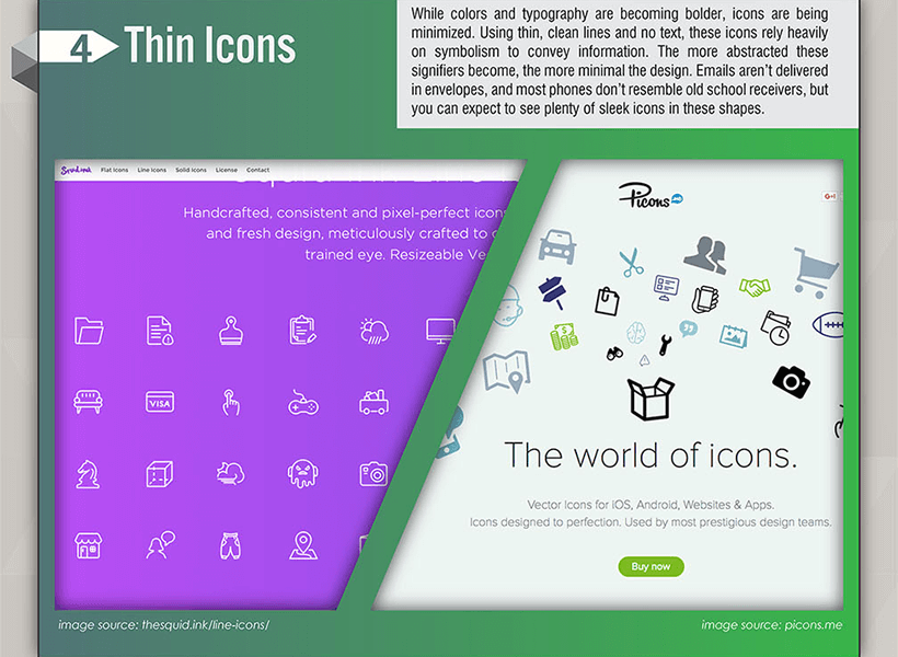 Webdesign Trends 2017 - Thin Icons