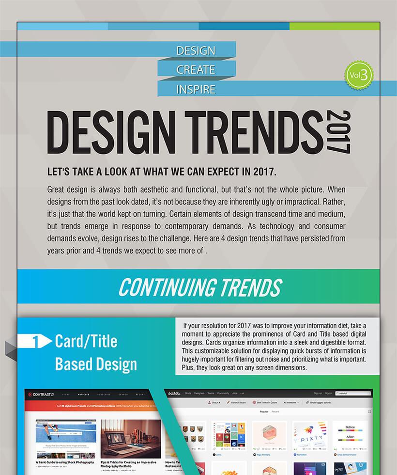 Die Webdesign-Trends für 2017 - Eine Infografik