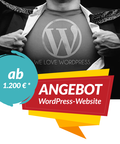 WordPress-Angebot | We love WordPress und Sie auch?